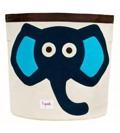 3 Sprouts Storage Bin - Kôš na hračky modrý slon