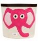 3 Sprouts Storage Bin - Koš na hračky ružový slon
