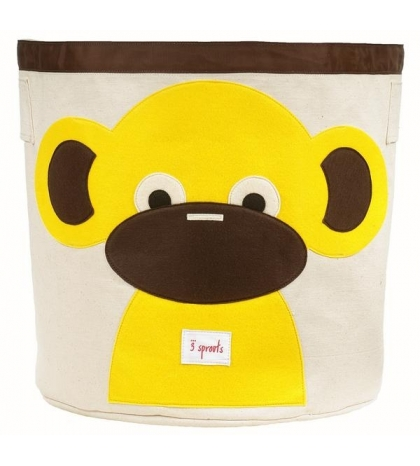 3 Sprouts Storage Bin - Koš na hračky opica