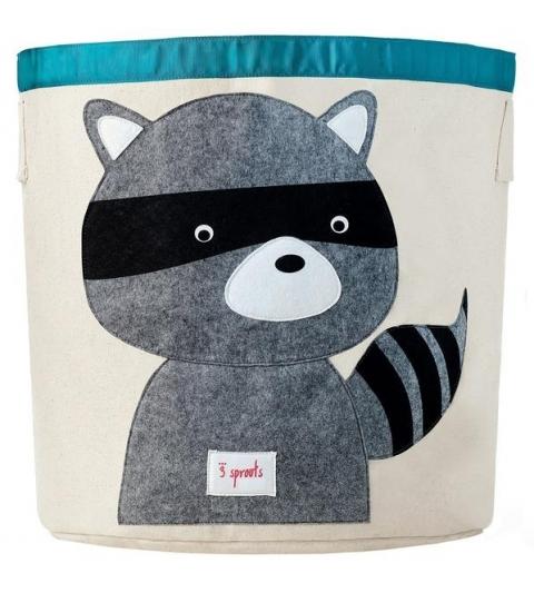 3 Sprouts Storage Bin - Koš na hračky medvedík čistotný