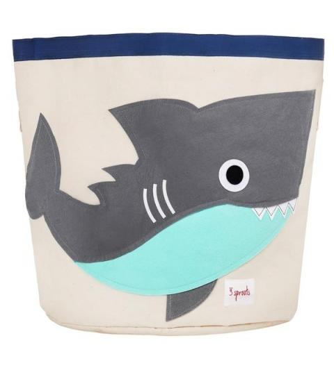 3 Sprouts Storage Bin - Kôš na hračky žralok