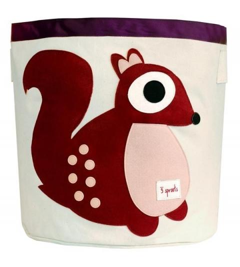 3 Sprouts Storage Bin - Koš na hračky veverička