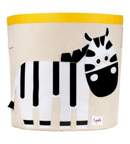 3 Sprouts Storage Bin - Kôš na hračky zebra