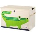 3 Sprouts Storage Bin - Koš na hračky krokodíl