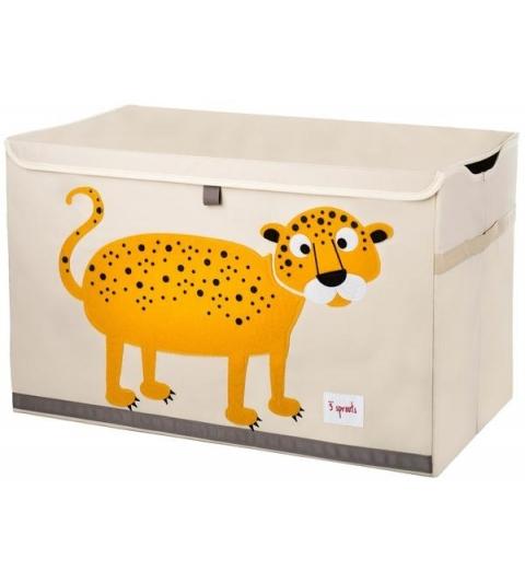 3 Sprouts Storage Bin - Koš na hračky leopard