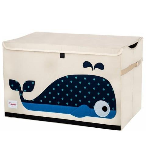 3 Sprouts Storage Bin - Koš na hračky veľryba