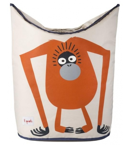 3 Sprouts Laundry Hamper - Kôš na bielizeň orangutan