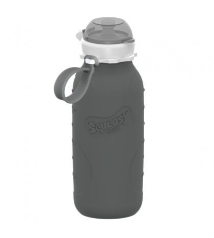 Silikónová fľaša  SQUEASY GEAR 480ML sivá