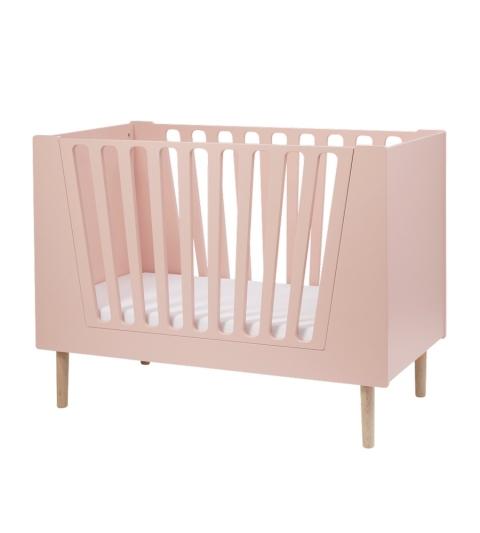 Detská postieľka  120X60 CM - ružová
