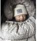 Vlnená čiapka - Wool cap -Vanilla White   Elodie Details