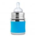 Pura® nerezová dojčenská fľaša 150ml modrá