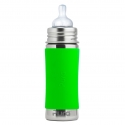 Pura® nerezová dojčenská fľaša 325ml zelená