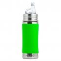 Pura® nerezová fľaša s náustkom 325ml zelená
