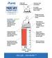 Pura® nerezová fľaša s náustkom 325ml-modrá