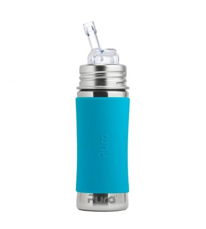 Pura® nerezová fľaša so slamkou 325ml