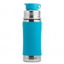 Pura® nerezová fľaša so športovým uzáverom 325ml modrá