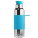Pura® nerezová fľaša so športovým uzáverom 850ml modrá