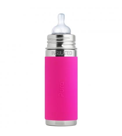 Pura® TERMO dojčenská fľaša 260ml ružová