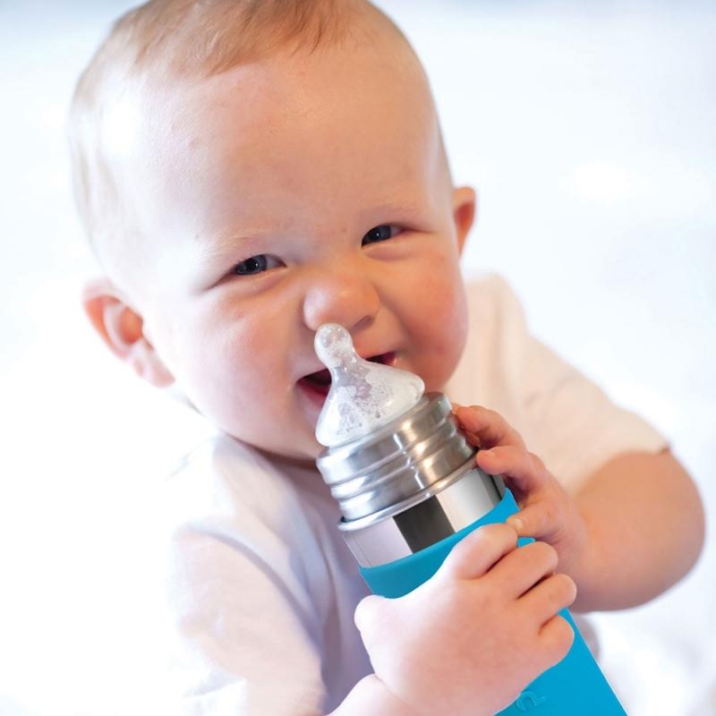 Pura® dojčenská TERMO fľaša 260ml-ružová  5fdf756f479