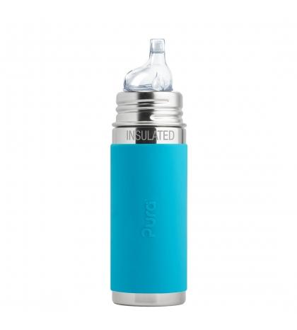 Pura® TERMO fľaša s náustkom 260ml-modrá