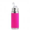 Pura® TERMO fľaša so slamkou 260ml ružová