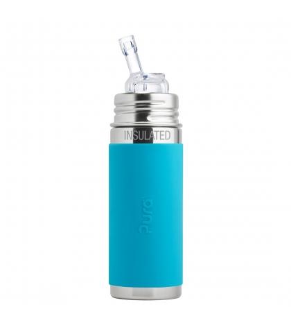 Pura® TERMO fľaša so slamkou 260ml modrá
