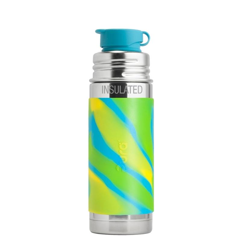 Pura® TERMO fľaša so športovým uzáverom 260ml-zelno modrá  21f72cbc283