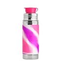 Pura® TERMO fľaša so športovým uzáverom 260ml-ružovo biela