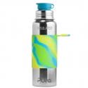 Pura® TERMO fľaša so športovým uzáverom 650ml zeleno modrá