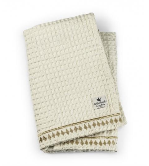 Bavlnená deka Organic Waffle Blanket -Vanilla White Elodie Details