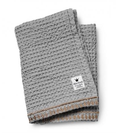 Bavlnená deka Organic Waffle Blanket -Gilded Grey Elodie Details