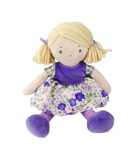 Bonikka látková bábika 26cm - mala peggy ,fialove-šaty