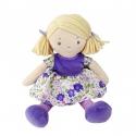 Bonikka látková bábika 26cm - malá peggy ,fialové šaty