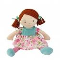 Bonikka látková bábika 26cm -mala katy,ružovo-modré šaty