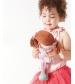 Bonikka látková bábika 26cm - malá fran ,ružové-šaty