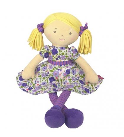 Bonikka látková bábika 41cm -  peggy ,fialové šaty