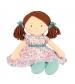 Bonikka látková bábika 41cm- katy ružovo modré šaty