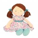 Bonikka látková bábika 41cm -katy,ružovo-modré šaty