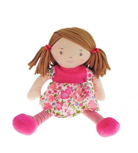 Bonikka látková bábika 41cm - malá fran ,ružové-šaty