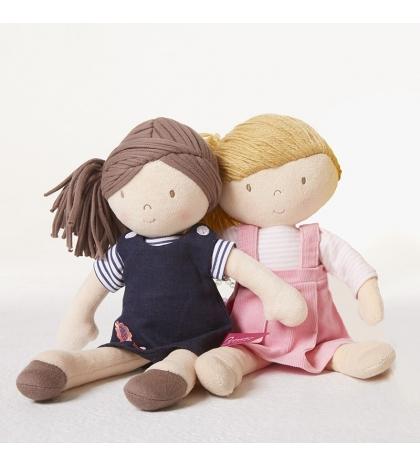 Bonikka látková bábika 31 cm - Rose – ružové menšestrové šaty