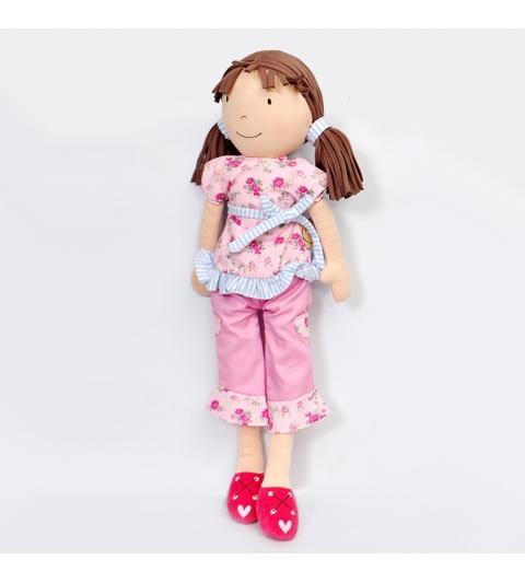 Bonikka látková bábika 46 cm - Whitney – ružová súprava
