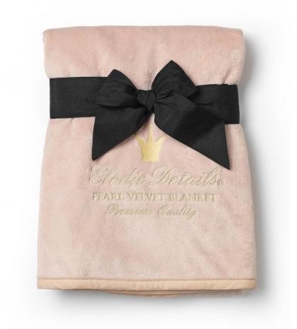 Sametováatová deka Powder Pink Elodie Details