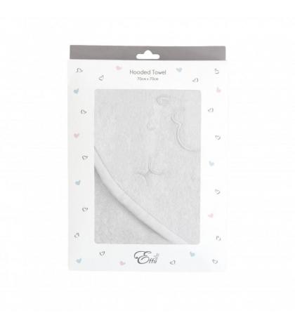 Osuška biela s lemovaním a výšivkou 70x70