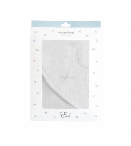 Osuška biela s lemovaním a výšivkou 95x95