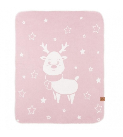 Reindeer - double deka Powder Pink 70x90