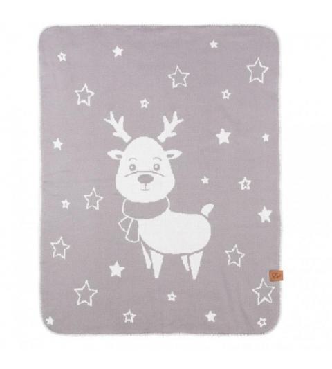 Reindeer - double deka Šedá 70x90