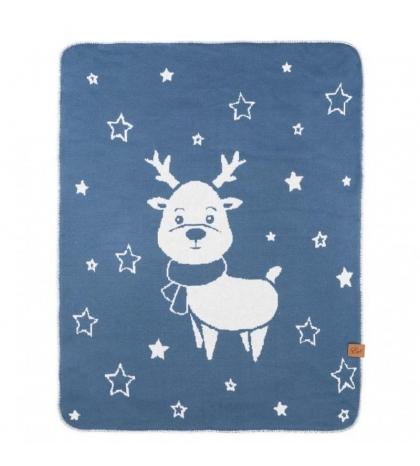 Reindeer - double deka Modrá 90x120
