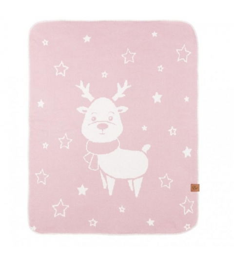 Reindeer - double deka Powder Pink 90x120