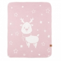 Reindeer - double deka Powder Pink 90x120 Effiki