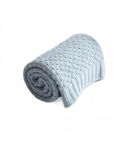 Bavlnená BABY deka - modrá